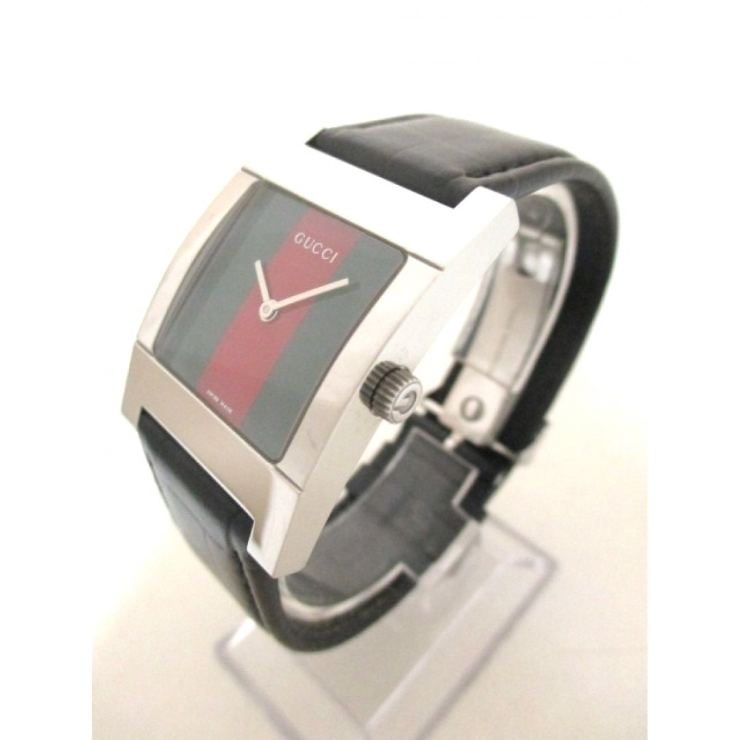 045922945 GUCCI (Gucci) watch Sherry 7700 M Men's leather belt green × red (SHIP FROM  JAPAN), Luxury, Watches on Carousell