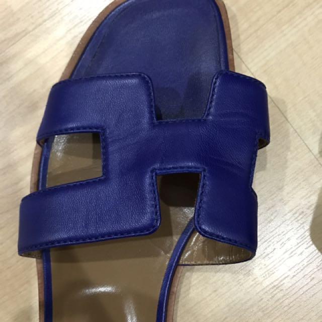 Hermes classic slippers eu37 slight used