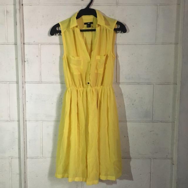 H&M Yellow dress