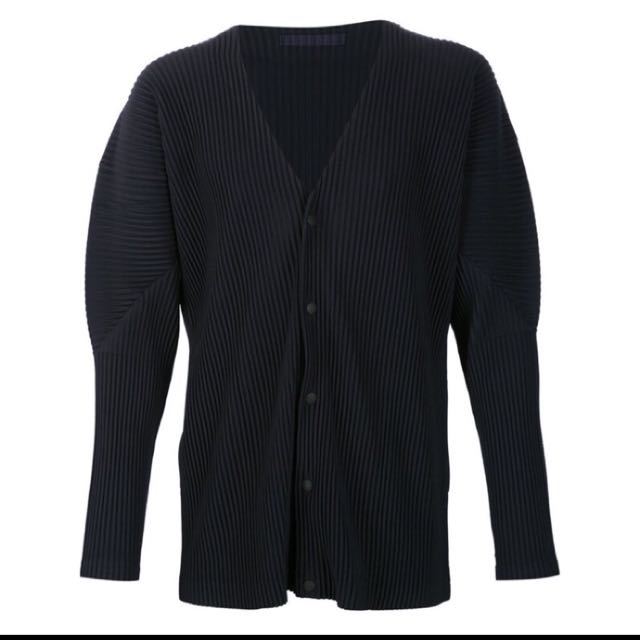 Homme Plisse Issey Miyake 黑色開襟外套
