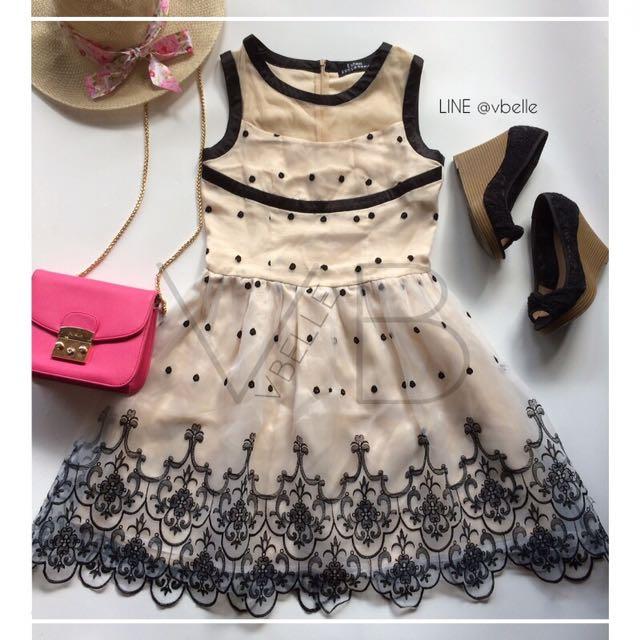 Jenny embroidered organza dress