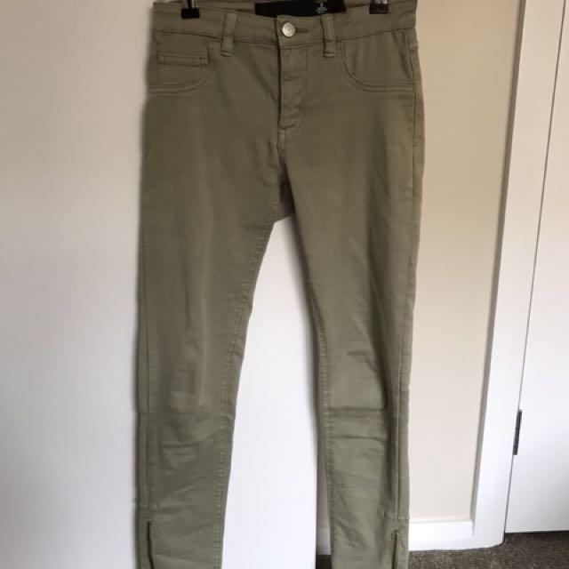 Khaki Green Jeans