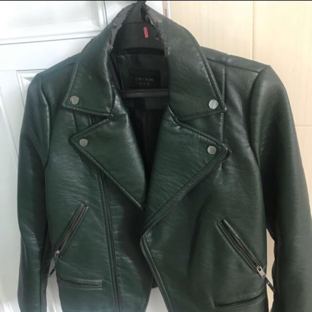 Leather jacket (uk. M) Zara