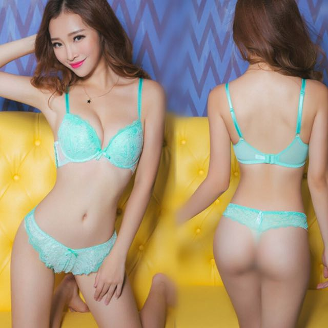 a207b5d65b Light Green Lace Bra Set