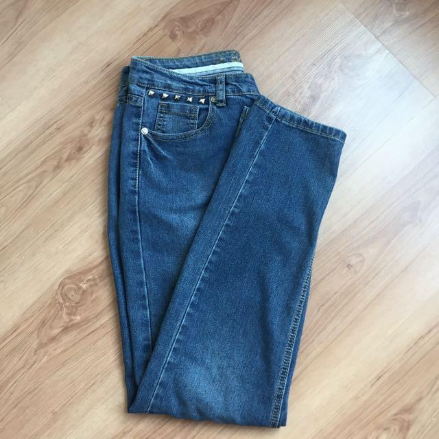 Low Rise Blue Jeans