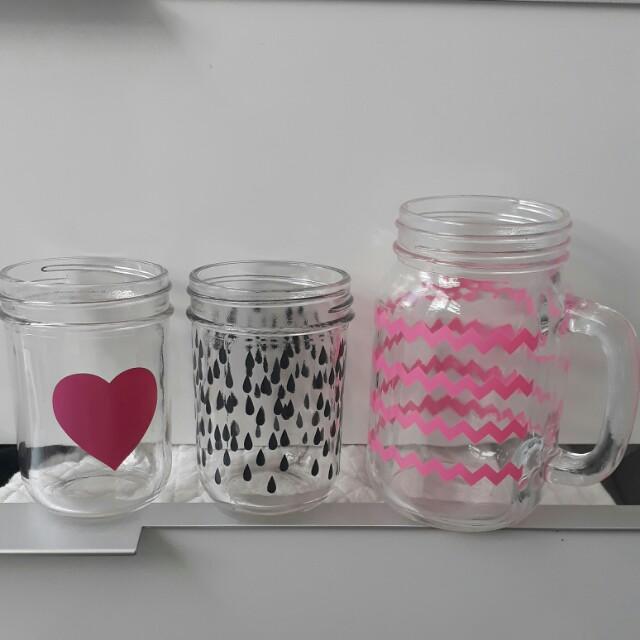 Glass Jars/makeup brush storage