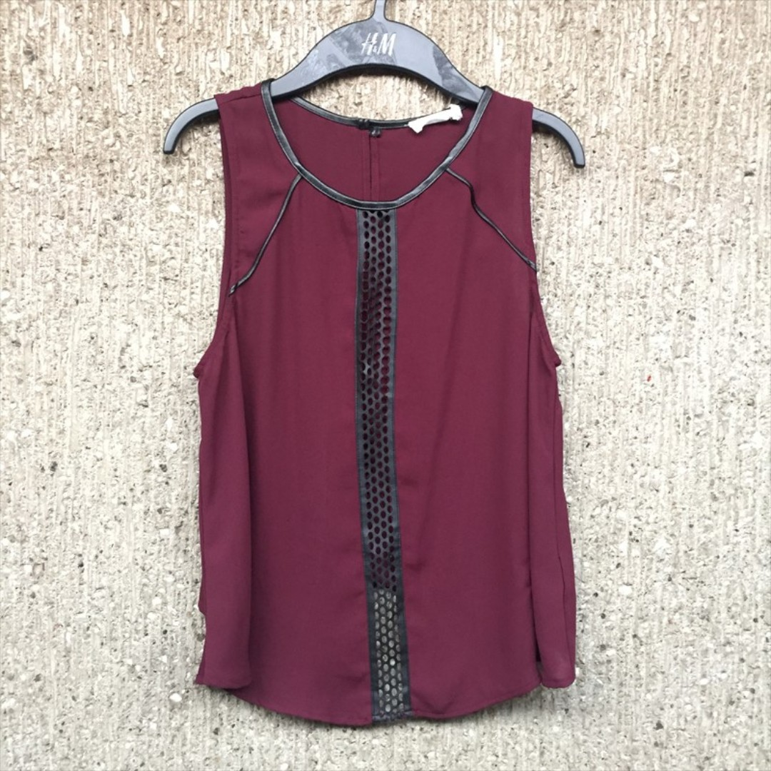 Maroon sleeveless