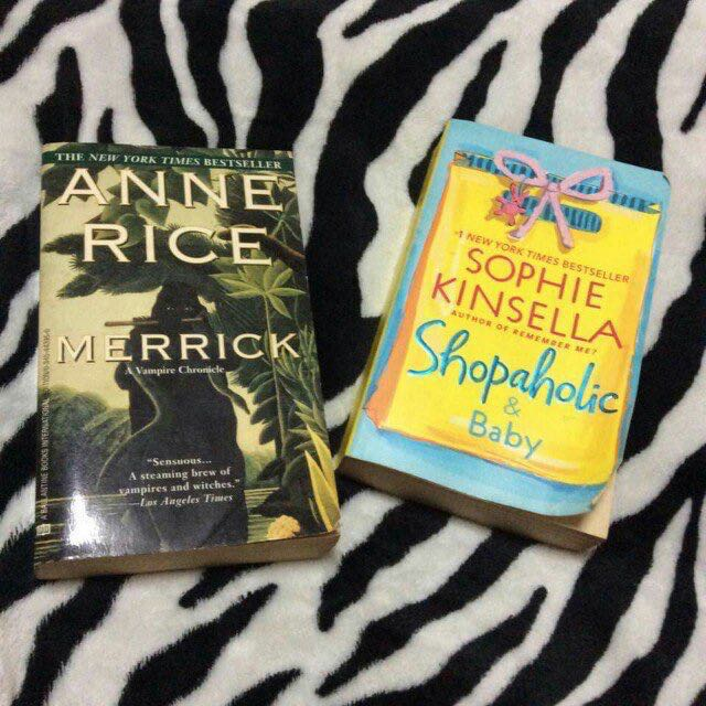 Merrick by Anne Rice  / Shopaholic & Baby by Sophie Kinsella