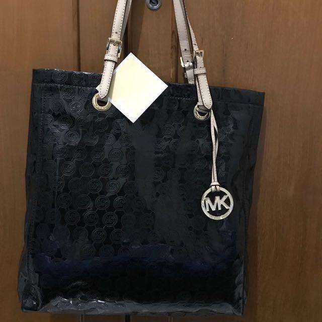 Michael Kors Shiny Black Tote Bag