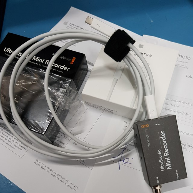 Mint With Cable Set Blackmagic Design Ultrastudio Mini Recorder Electronics Others On Carousell