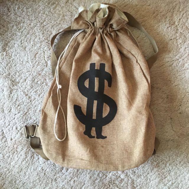 Money Bag Sack Backpack