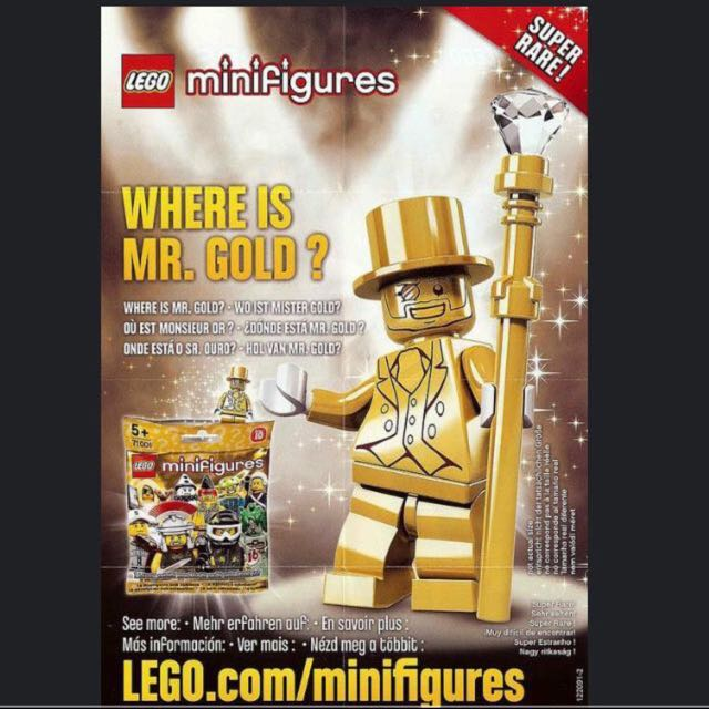 Mr Gold Lego Inspired, Toys & Games, Bricks & Figurines on Carousell