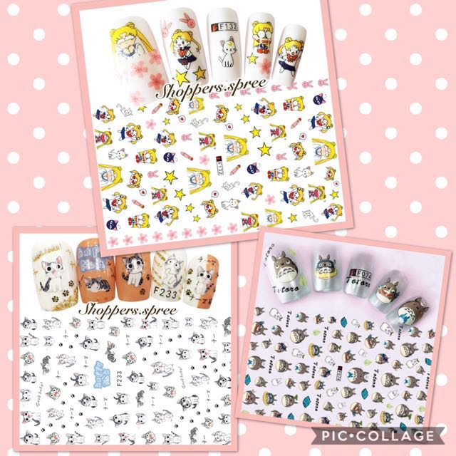 Nail Stickers 2018 limited edition (Japanese Anime Series ...