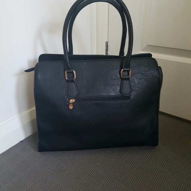 New Colette Hayman Black And Gold Bag Women S Fashion Bags