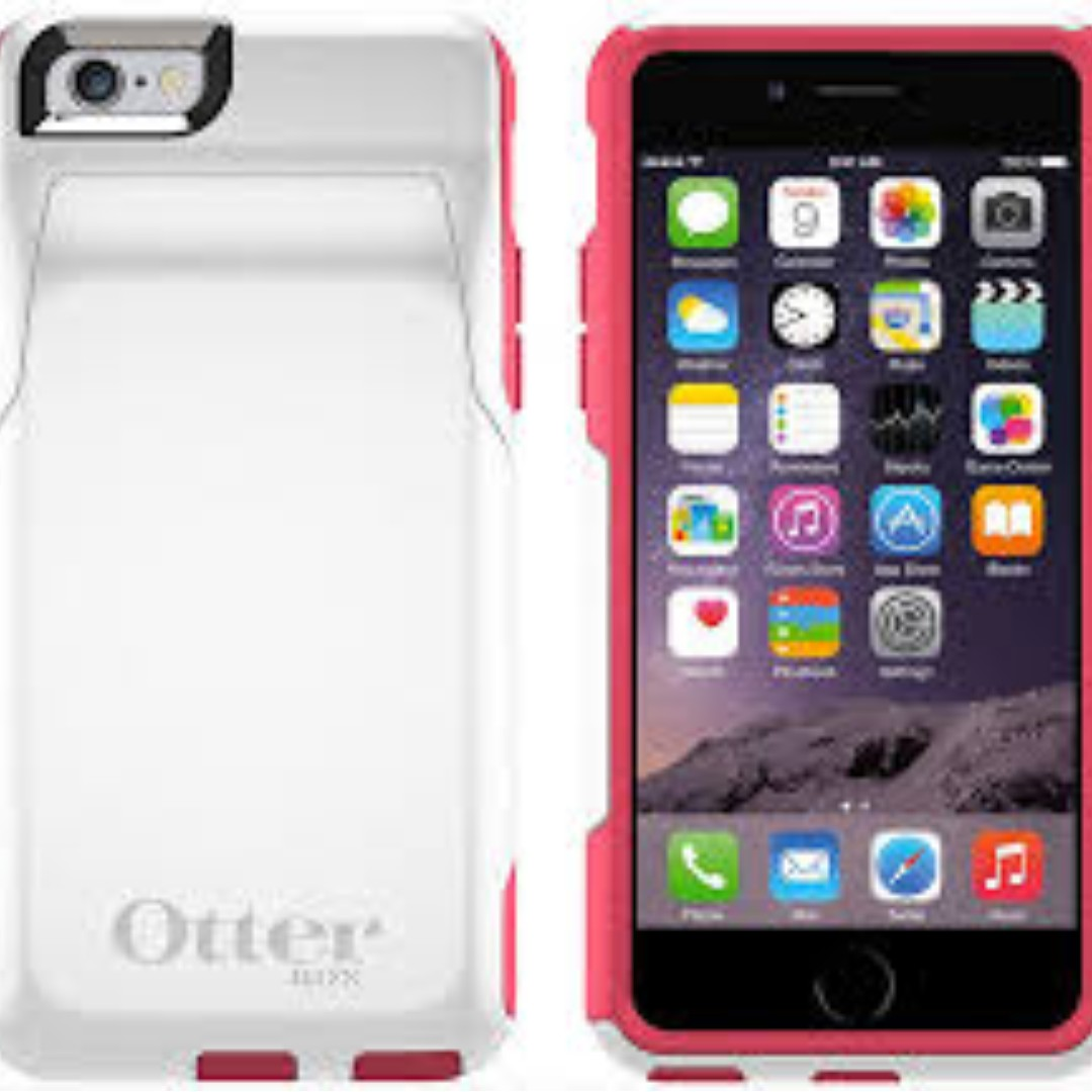 watch f5e88 d48dc OtterBox Commuter Wallet iPhone 6/6s Case: (Neon Rose)