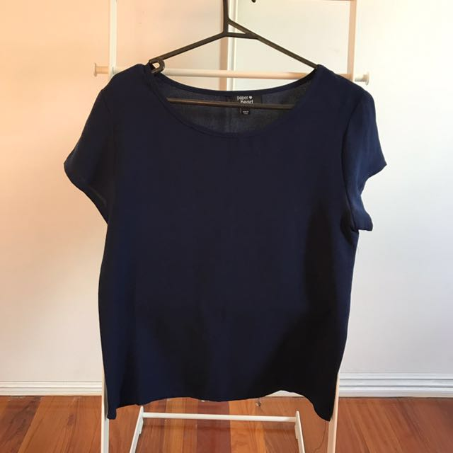 Paper Heart top -size 8