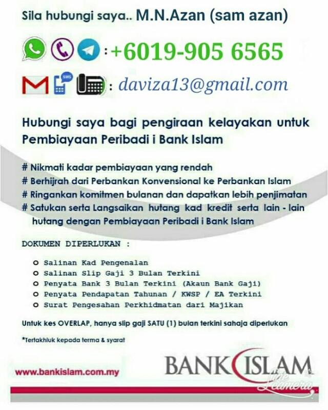Pembiayaan Peribadi Bank Islam Services Others On Carousell