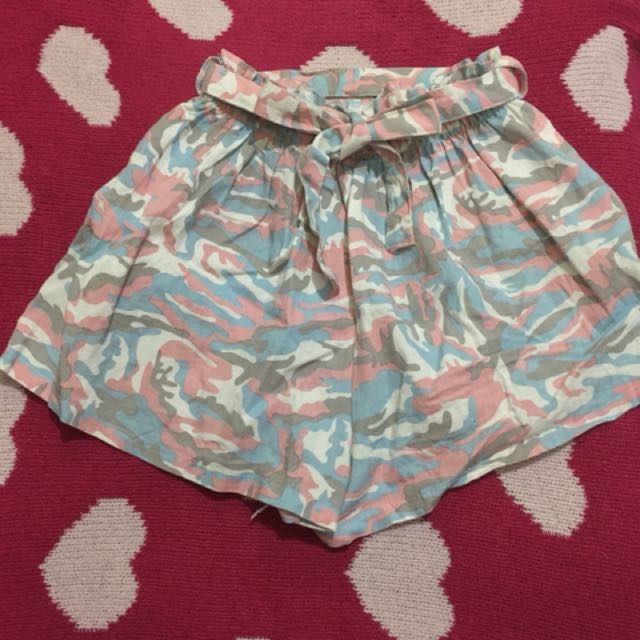 Pink camou shorts
