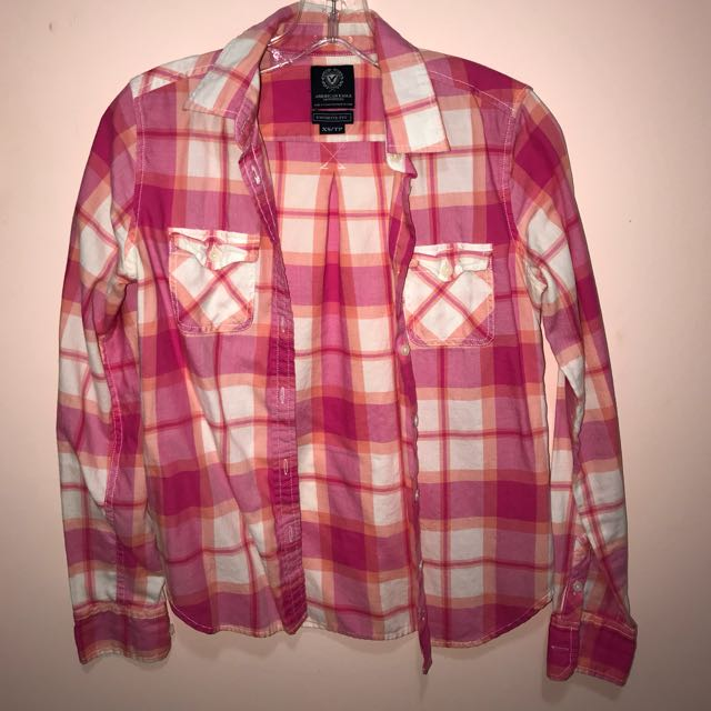 Pink Plaid shirt