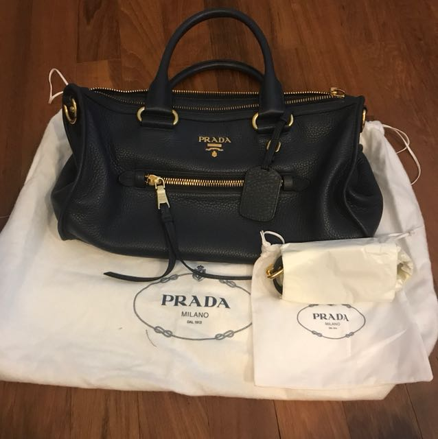 bccd8b1bee77 ... black textured leather shopping tote 85811 74a3e; cheapest prada bl0805 vitello  phenix leather zip tote bag luxury bags wallets on carousell dc863 00500