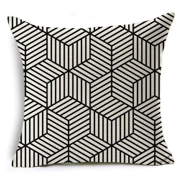 Printed Linen Throw Pillows/Cushions