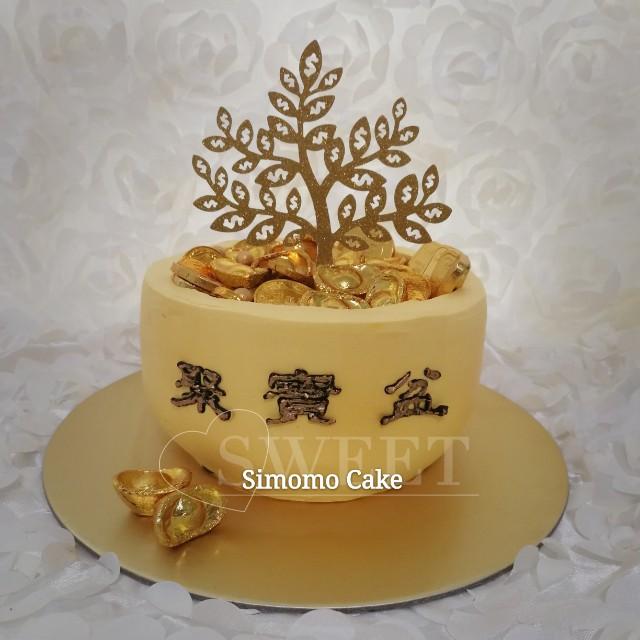 Huat50sales Prosperity Cny Cake Money Gold Fresh Dairy Cream