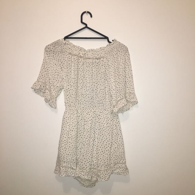Retro Cotton on off the shoulder playsuit size xs