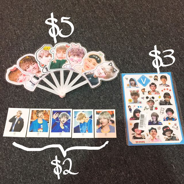 Taehyung unofficial goods