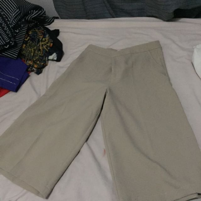 Tan / Taupe culotte pants for women