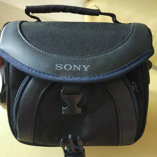 Tas Camera Sony Mini DV Camcorder banyak kantong saku asli