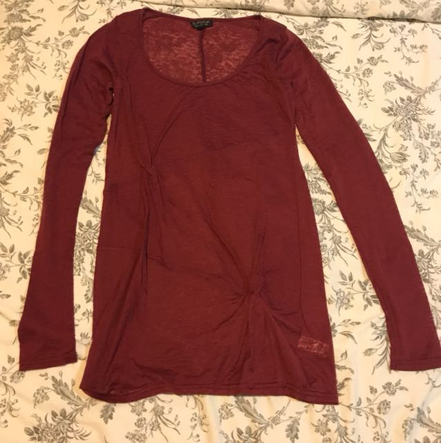 Topshop Knotted Top in Red(BN)