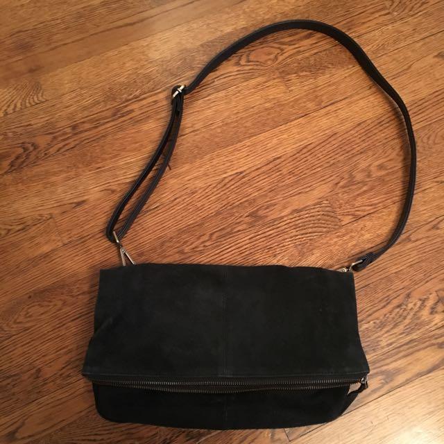 Topshop suede shoulder bag
