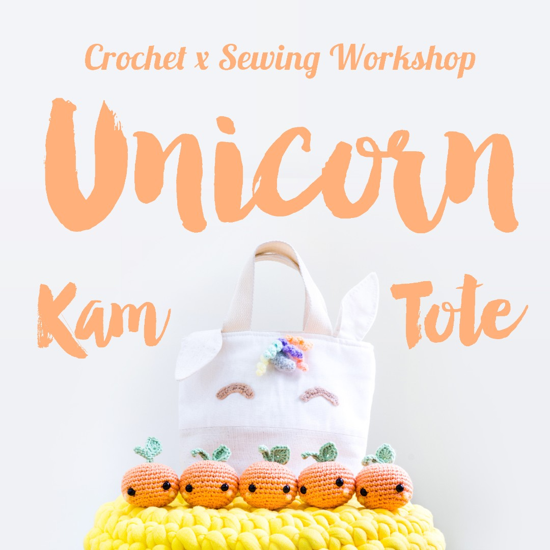 Unicorn Tote Bag Crochet x Sewing Workshop