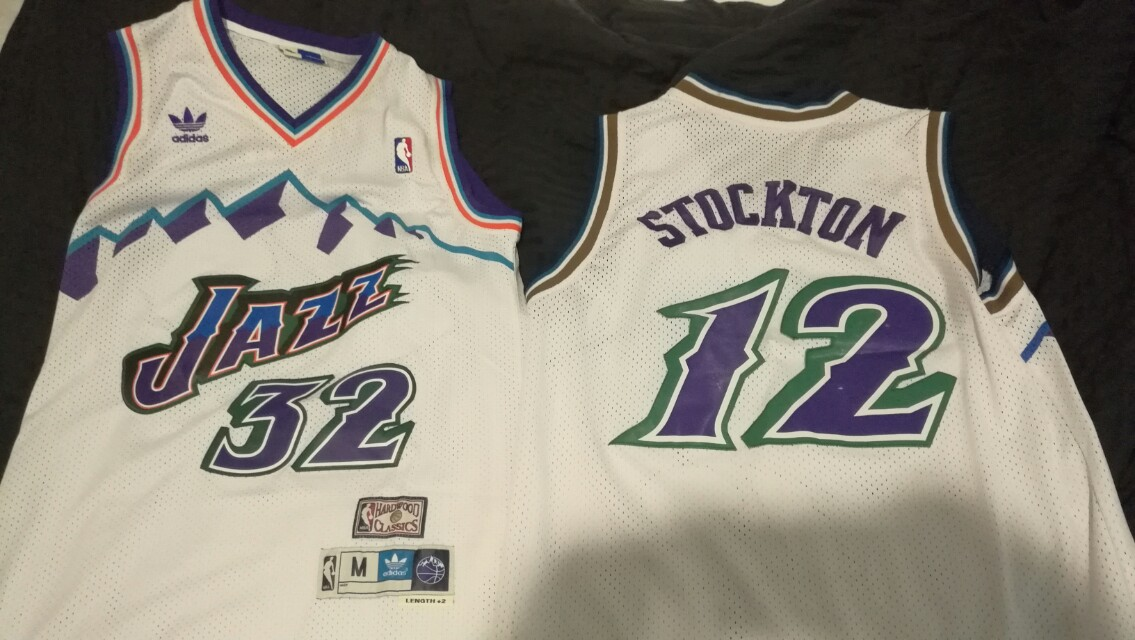 the best attitude c9c66 0bf4d utha jazz malone stockton duo basketball jersey classic fit ...