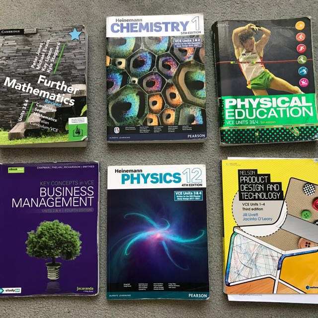 VCE/high school textbooks ($15-$30)