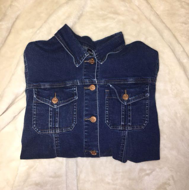 Vintage Cropped Jean Jacket