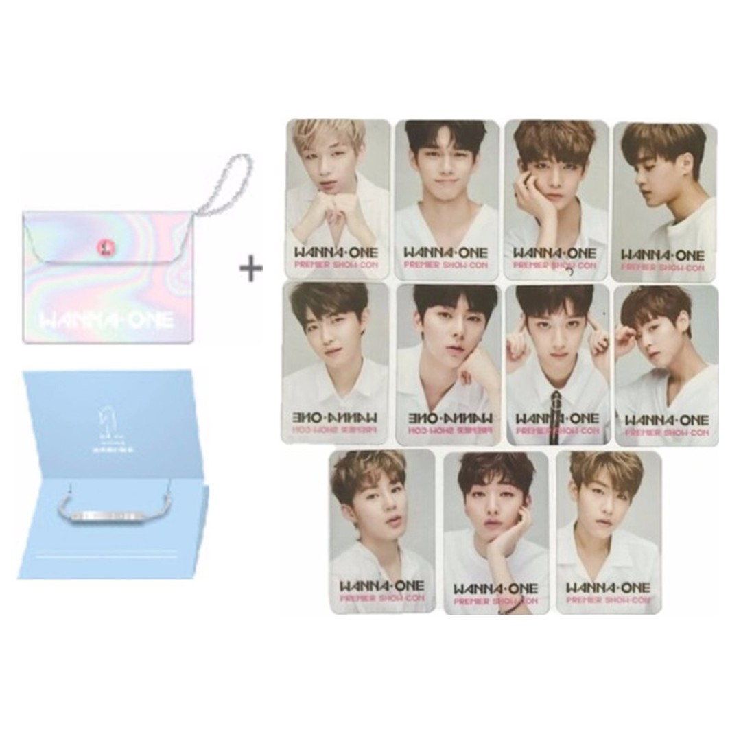 Wanna One Bracelet, Pouch & Photocards Complete Set