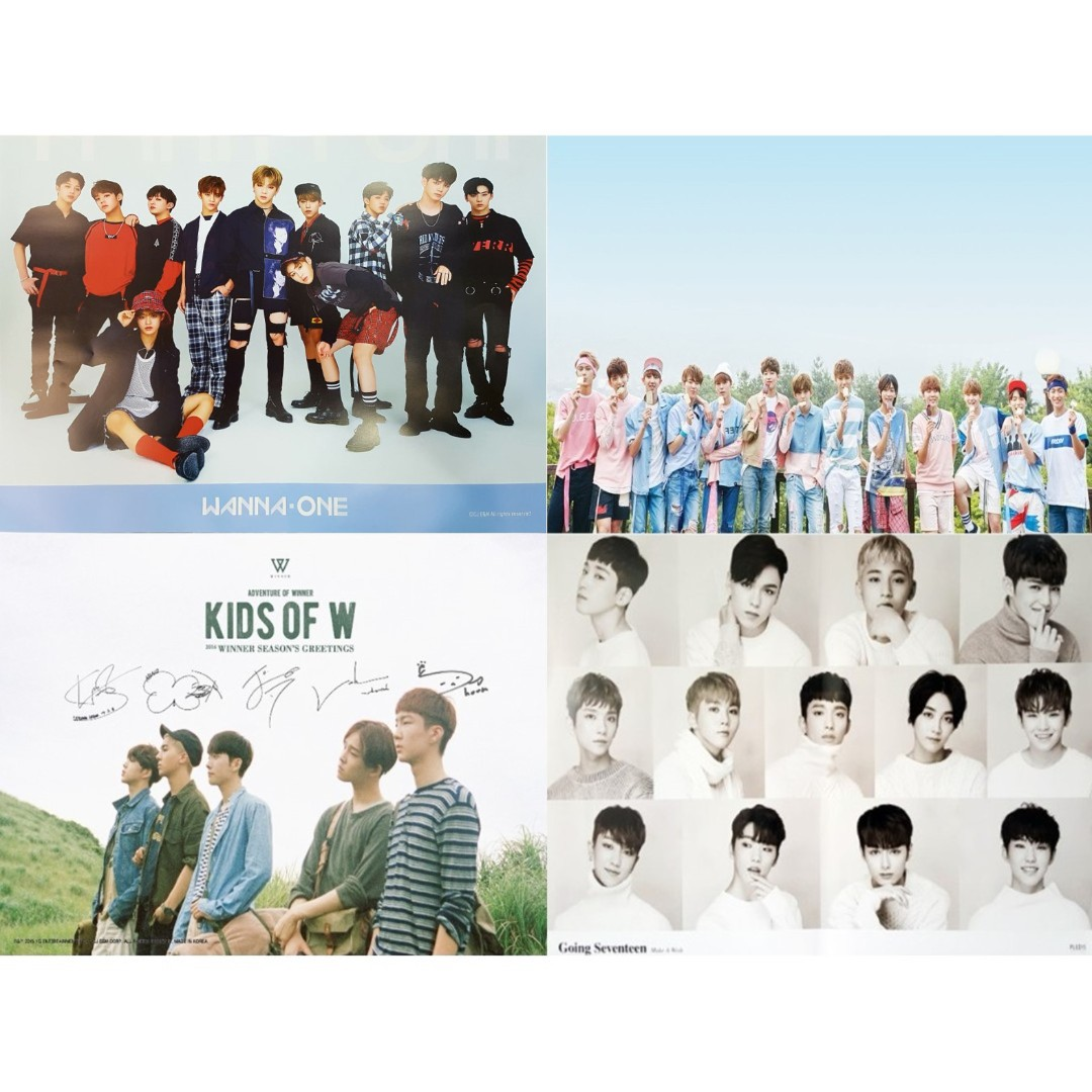 Wanna One, Winner & Seventeen Official Rolled Posters