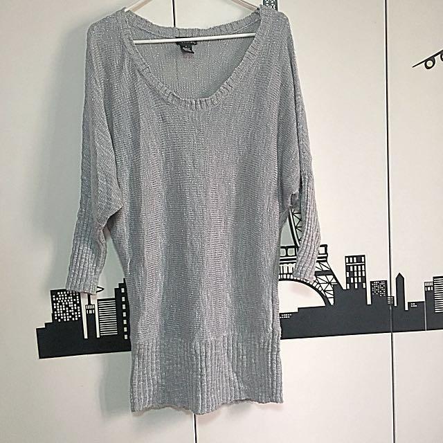 Wetseal Dress Shirt Semi Metallic