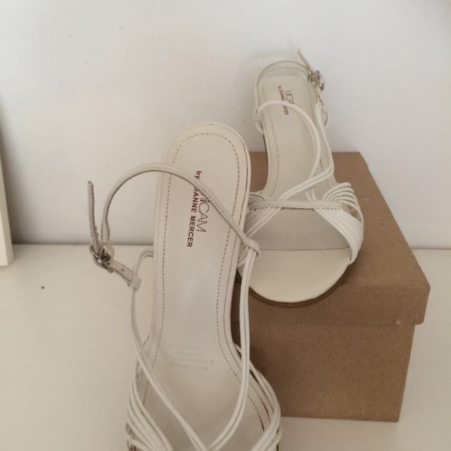 White Strapped Heels