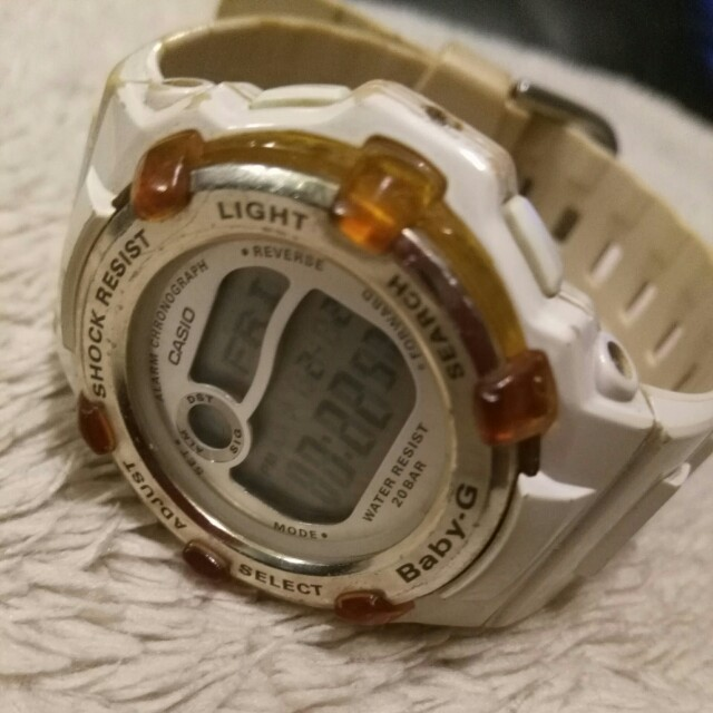 Women watch Baby G shock