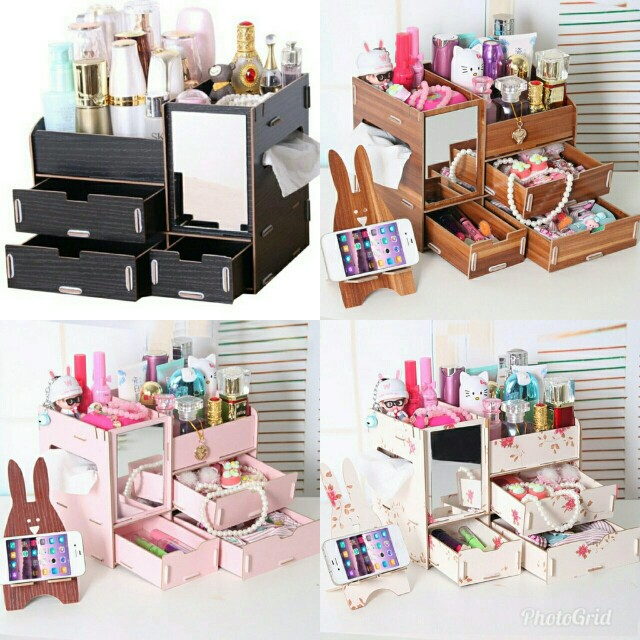 Wooden DIY Makeup Organizer