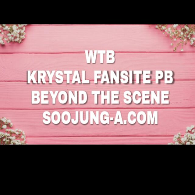 WTB - KRYSTAL FX FANSITE (BEYOND THE SCENE)