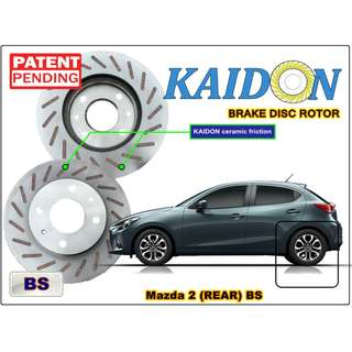 "Mazda 2 brake disc rotor KAIDON (REAR) type ""RS"" / ""BS"" spec"