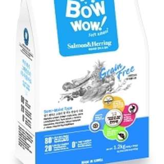Bow Wow soft kibbles salmon and hearing 1.2kg dog food