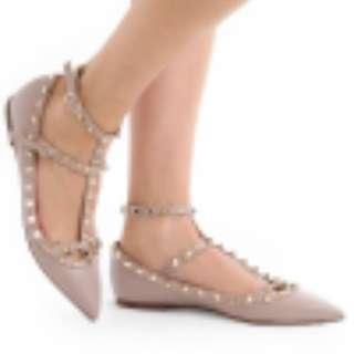 Valentino rockstud 平底鞋