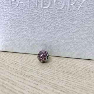Pandora閃耀深粉紅串飾