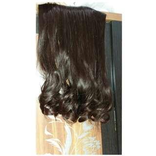 HairClip darkbrown waveblow 50cm