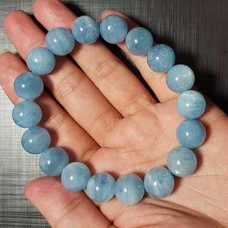 水晶 crystal 海藍寶11mm手串