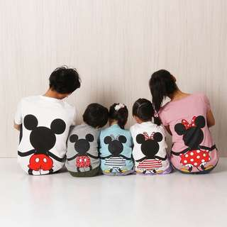 DADDY RM35 MOMMY RM35 KID RM30  FAMILY MATCHING OUTFIT GREY MICKEY/WHITE MICKEY